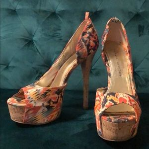 Chinese Laundry Platform Floral Heels